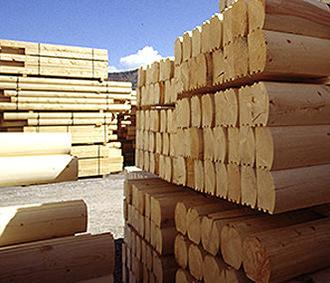 log home lumber yard